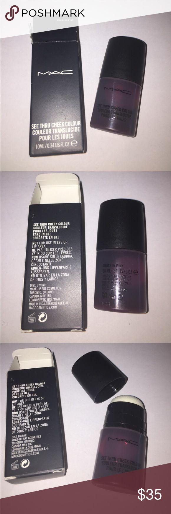 MAC COSMETICS NIB SEE THRU AWASH PINK CHEEK COLOUR Firm Price. No trades. MAC COSMETICS NIB SEE THRU AWASH PINK CHEEK COLOUR. Never used nor swatched. Rare and discontinued. MAC Cosmetics Makeup Blush