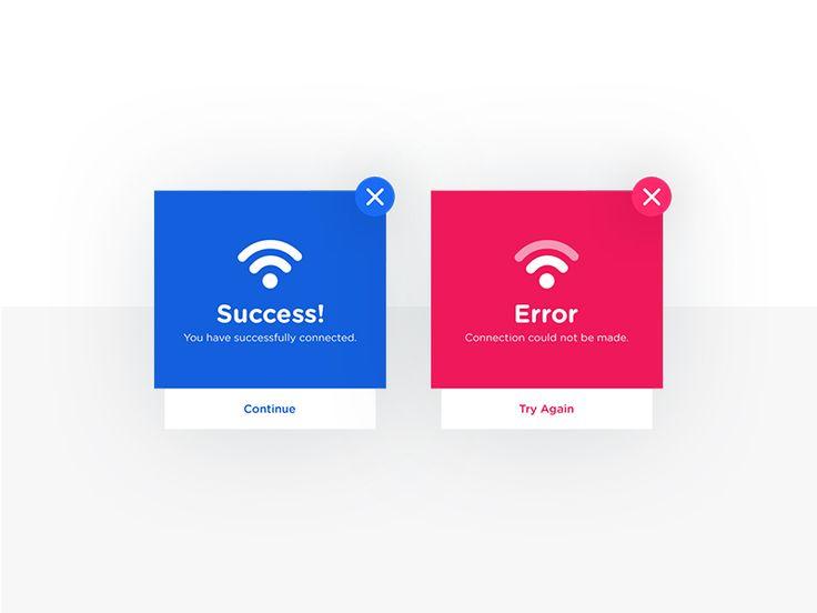 Daily UI #011- Flash Message (Error/Success)
