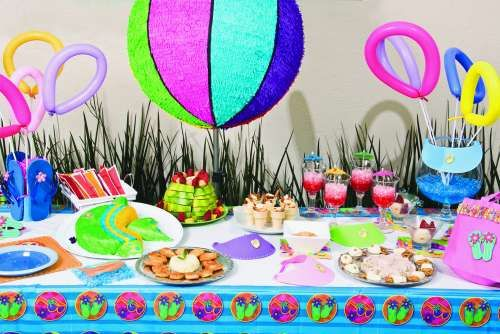Piscina party ideas para fiestas motivo piscina y playa - Ideas para cumpleanos en piscina ...