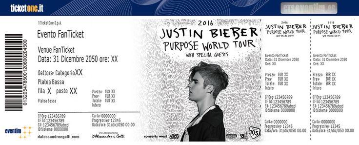 Justin Bieber Tickets - TicketOne live 2016