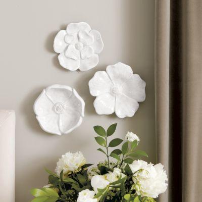 Wall Decor | Ballard Designs in 2020 | Ceramic flowers ...