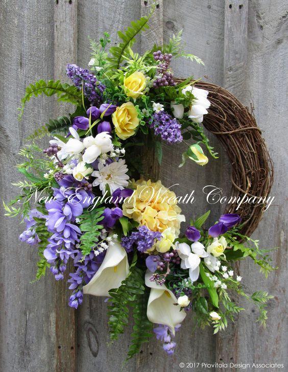 Easter Sunrise Garden Wreath ~A New England Wreath Company Designer Original~