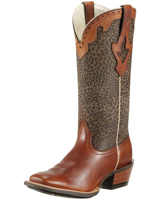 Ariat Women's Crossfire Caliente Cowgirl Boot - Barnwood Brown/Cheetah Print  http://www.countryoutfitter.com/products/30435-womens-crossfire-caliente-boot-barnwood-brown-cheetah-print
