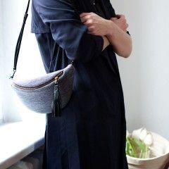 Melange Blue & Gray - nerka na cienkim paseczkU