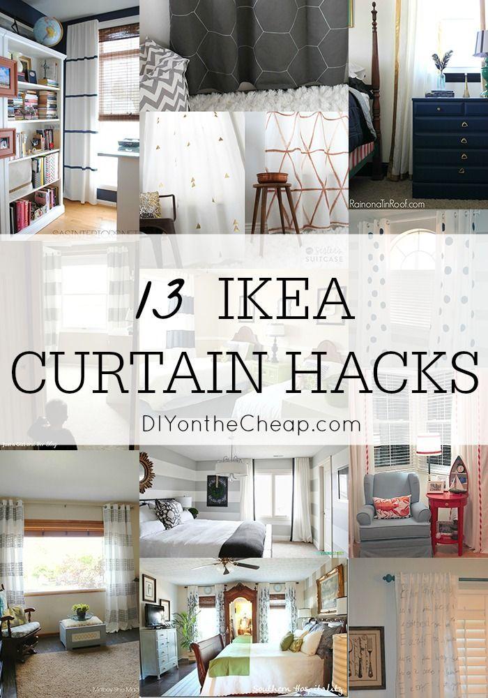 Inexpensive Window Treatments: 13 Amazing IKEA Curtain Hacks!