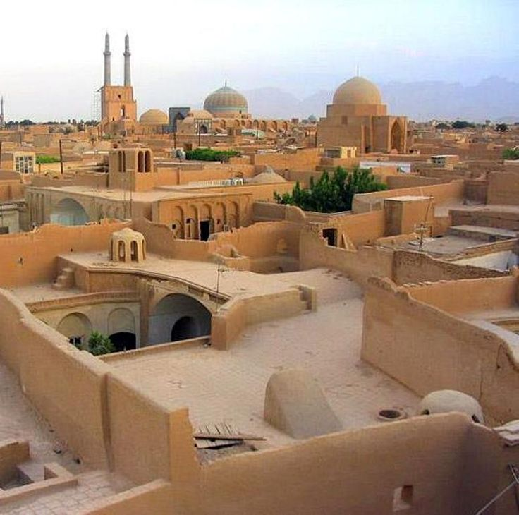 YAZD - IRAN  The layout is intriguing. Makes me itch to adapt this in 3D.