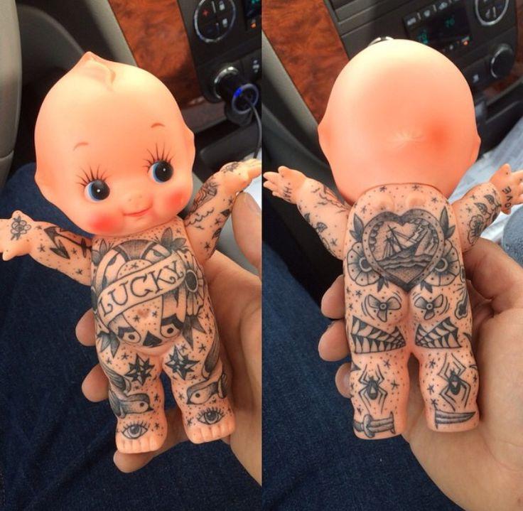 Black Baby Doll Tattoo: Doll Tattoo, Cupie Dolls, Kewpie