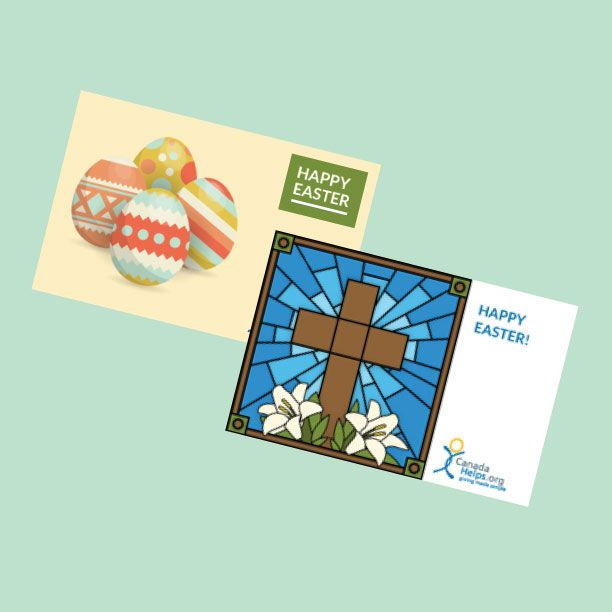 How nice would it be to find one of our #Easter #Charity Gift Cards in your egg basket?  #CanadaHelps