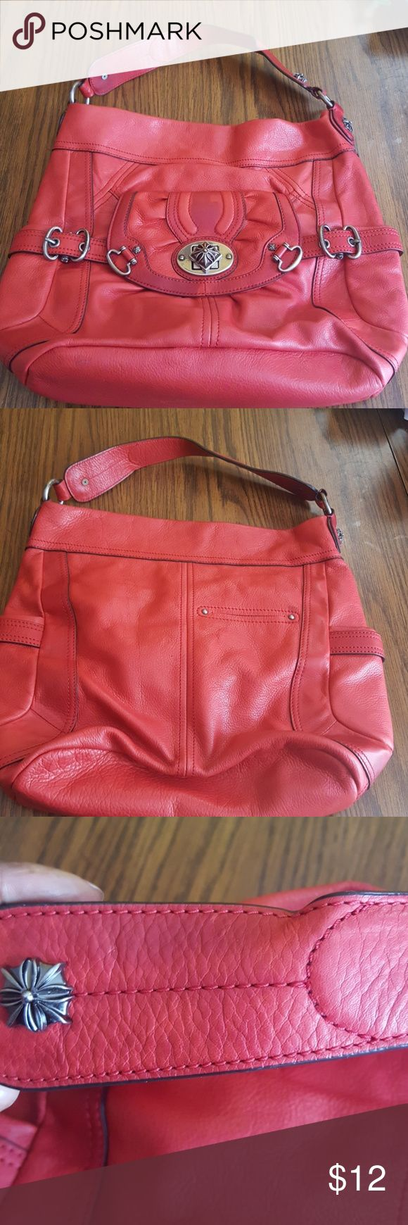 B makowsky handbag B Makowsky handbag in good condition. Has some water marks on it but doesn't affect the use of the bag. Inside is clean, no holes,rips, or tear.please examine all the pics those r where the water marks are. B Makowsky Bags Totes
