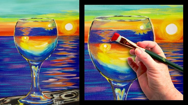 25 best ideas about beginner painting on pinterest for Wine glass painting tutorial