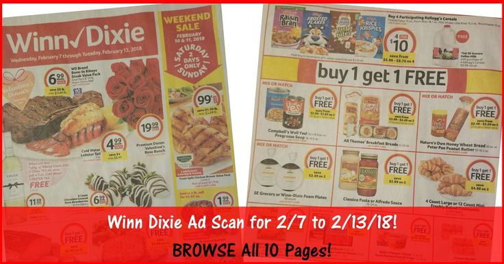 Who is ready to start working on their Winn Dixie Shopping List for 2/7? BROWSE all 10 Pages of the Actual Winn Dixie Ad Scan for 2/7 to 2/13/18 ► http://www.thecouponingcouple.com/winn-dixie-weekly-ad-scan-2-7-18/  #Coupons #Couponing #CouponCommunity  Visit us at http://www.thecouponingcouple.com for more great posts!