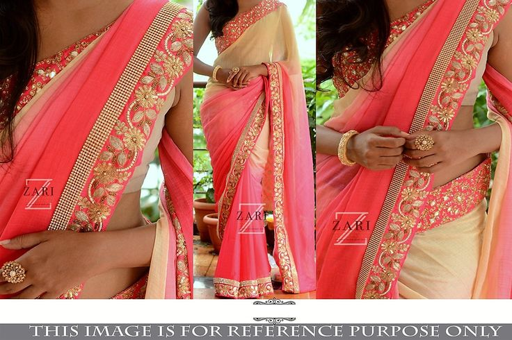 Beautiful Designer Georgette Saree (C)