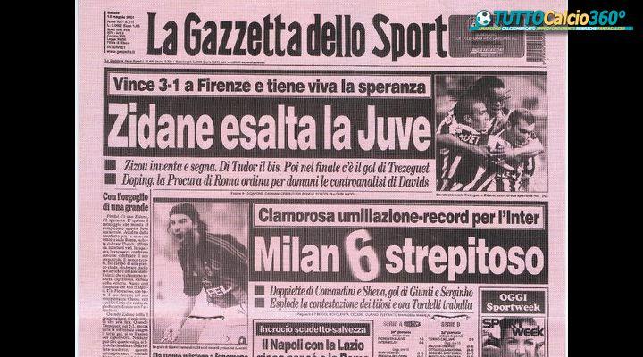 11 Maggio 2001 | La Serata Magica di Comandini ed il set rossonero