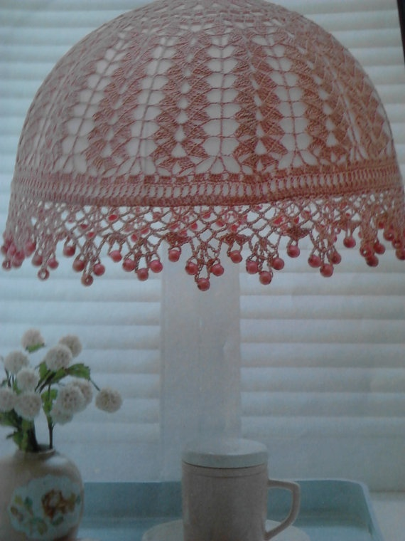 romantic lampshade pattern by crochetqueen843 on Etsy, $2.99 this would be so pretty in a baby girl room/girls room/shabby chic decor!! I love it!!