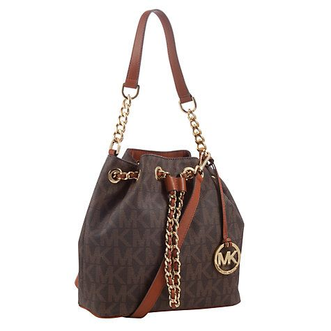 Buy MICHAEL Michael Kors Frankie Leather Medium Drawstring Bag Online at johnlewis.com
