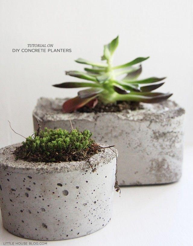 DIY pot de fleurs en ciment