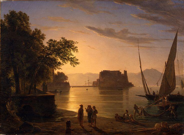 Anton Sminck Pitloo, Castel dell'Ovo a Napoli, 1820 - 1824