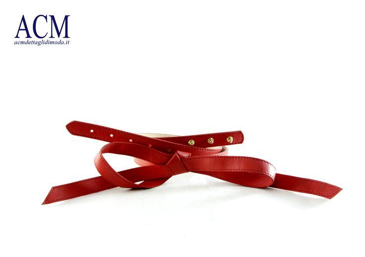 Cintura donna in vera pelle morbida con fiocco sul davanti #woman #leather #belt #bow