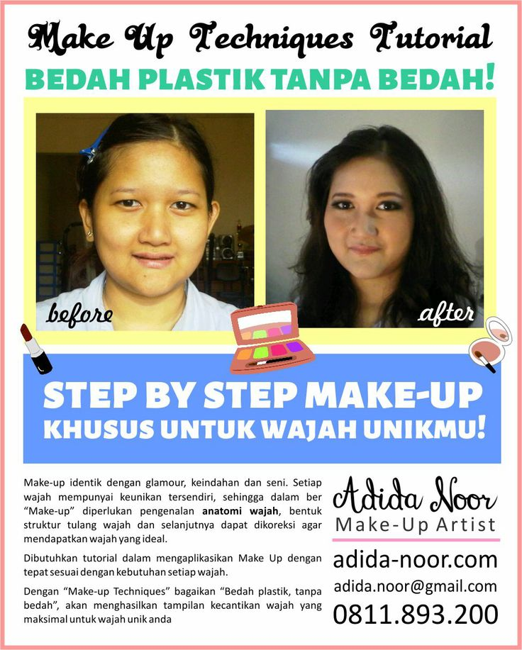 Promotional Poster | Make-up by Adida Noor (Indonesian Make-Up Artist) please visit : adida-noor.com