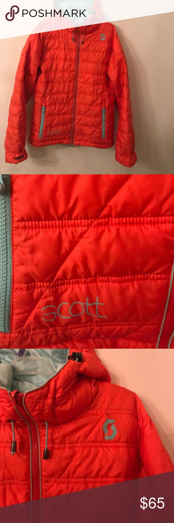 Scott sports apparel juniors puffer jckt sz 4/6 sm Lk nw worn once retails online bought @ www.backcountry.com  Retailed new $250.... its amazing best jacket style comfort ever hood tons of zippers pockets 💦 proof get this amazing junior sz 4/6 jacket today wow SCOTT Jackets & Coats Puffers
