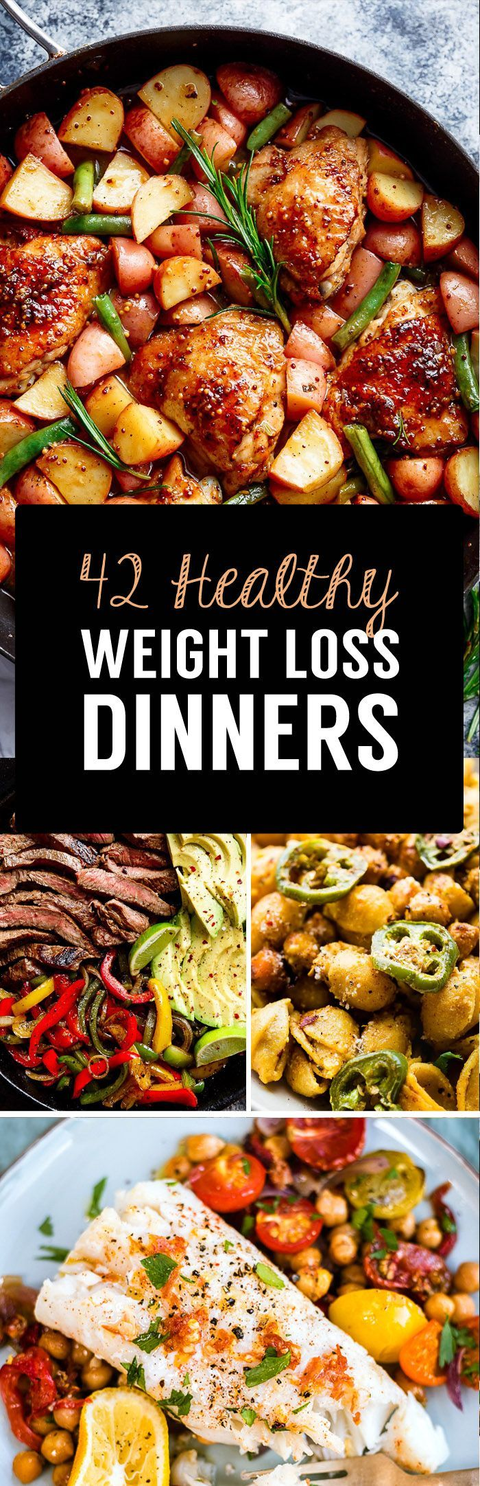 42 Weight Loss Dinner Recipes That Will Help You Shrink Belly Fat Healthy WeightlossLow RecipesHealthy MealsHeathy