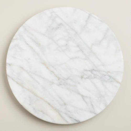 One of my favorite discoveries at WorldMarket.com: White Marble Lazy  Susan