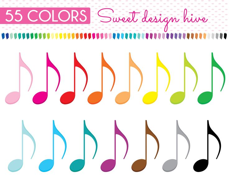 Music note clipart, Eighth note clipart, Music Class Clipart, Music Note Png, Music, Planner Stickers, Commercial Use, PL0115 by Sweetdesignhive on Etsy
