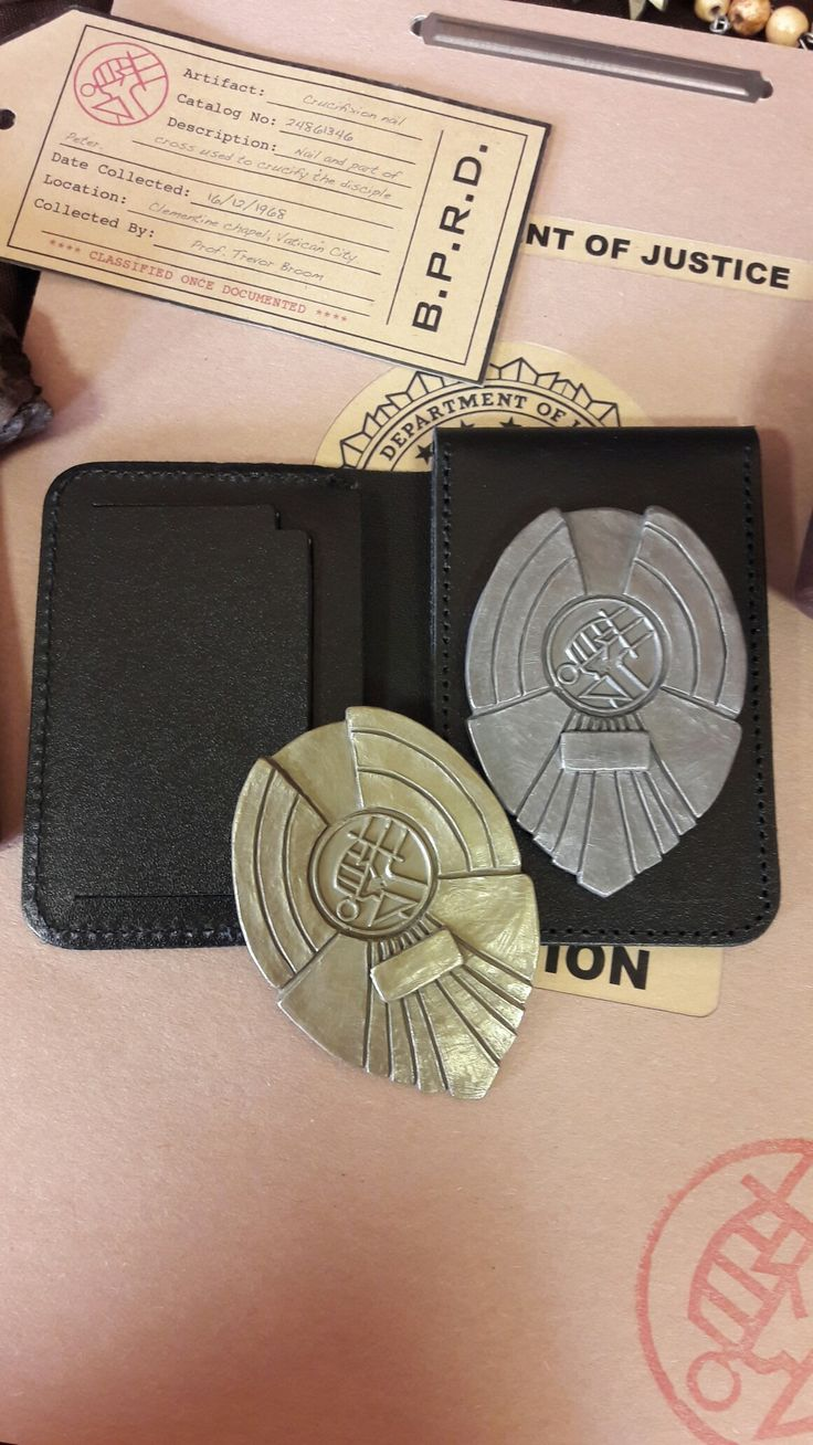Hellboy BPRD Police badge and wallet   https://www.etsy.com/uk/listing/549500106/hellboy-bprd-police-badge-wallet?ref=shop_home_active_1