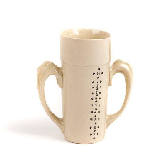 Victorian Mug Measuring Cylinder. Hand made by alicewaltonceramics, £26.00