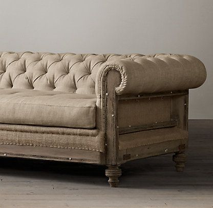 You're *killing* me, Restoration Hardware.  Deconstructed Chesterfield | Restoration Hardware