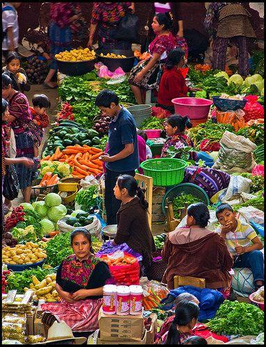 Vegetable market of Chichicastenango, Guatemala