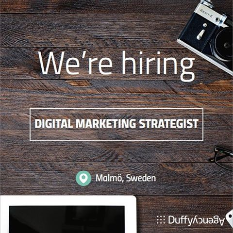 Are you a digital marketing strategist with at least three years of relevant experience? We're looking for a curious and proactive candidate that is looking to take on new challenges. Apply now! http://duffy.agency/digital-marketing-strategist-job-opening-malmo-sweden/