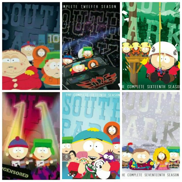 South Park (Comedy Central) Season covers