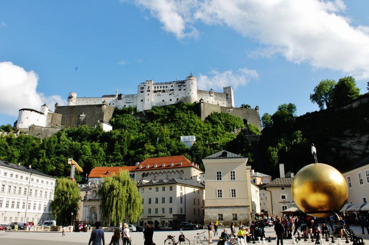 Domplatz, Salzburg #Salzburg, #Austria, #soundofmusic