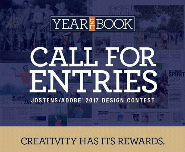 Win a Laptop & Adobe Creative Suite. Submit your best Yearbook Spread for Jostens/Adobe 2017 Design Contest @USA. Closing April 14. http://www.jostens.com/apps/shop/images/pdf/YBK_SY17_InDesignContestFlyer.pdf