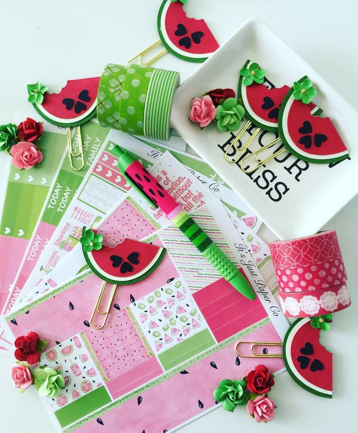 insprired by the beautiful watermelon sticker kit by