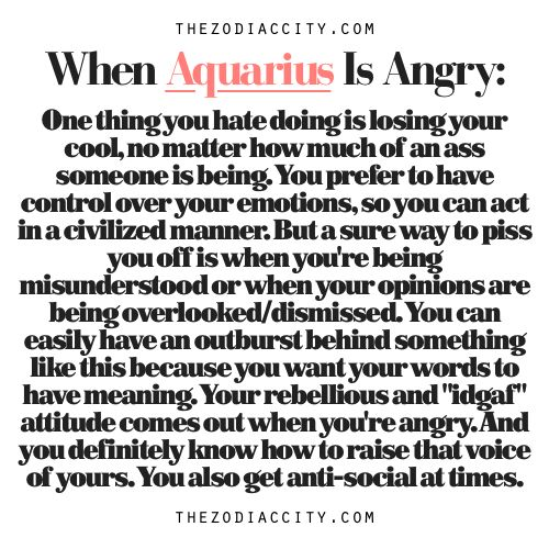 Zodiac Files: When Aquarius Is Angry.