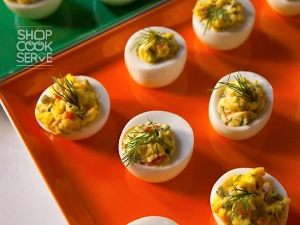 your deviled eggs Mexican-style with some chopped green chilies, chili ...