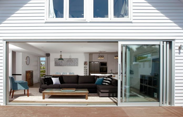 The Eurostacker® sliding door is the ultimate in discreet home styling