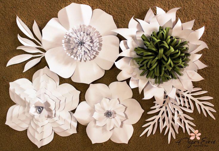 Paper Flower Backdrop, Giant Paper Flowers, Wedding Centerpiece, Paper Flowers, Wedding Backdrop by APaperEvent on Etsy https://www.etsy.com/listing/290575361/paper-flower-backdrop-giant-paper