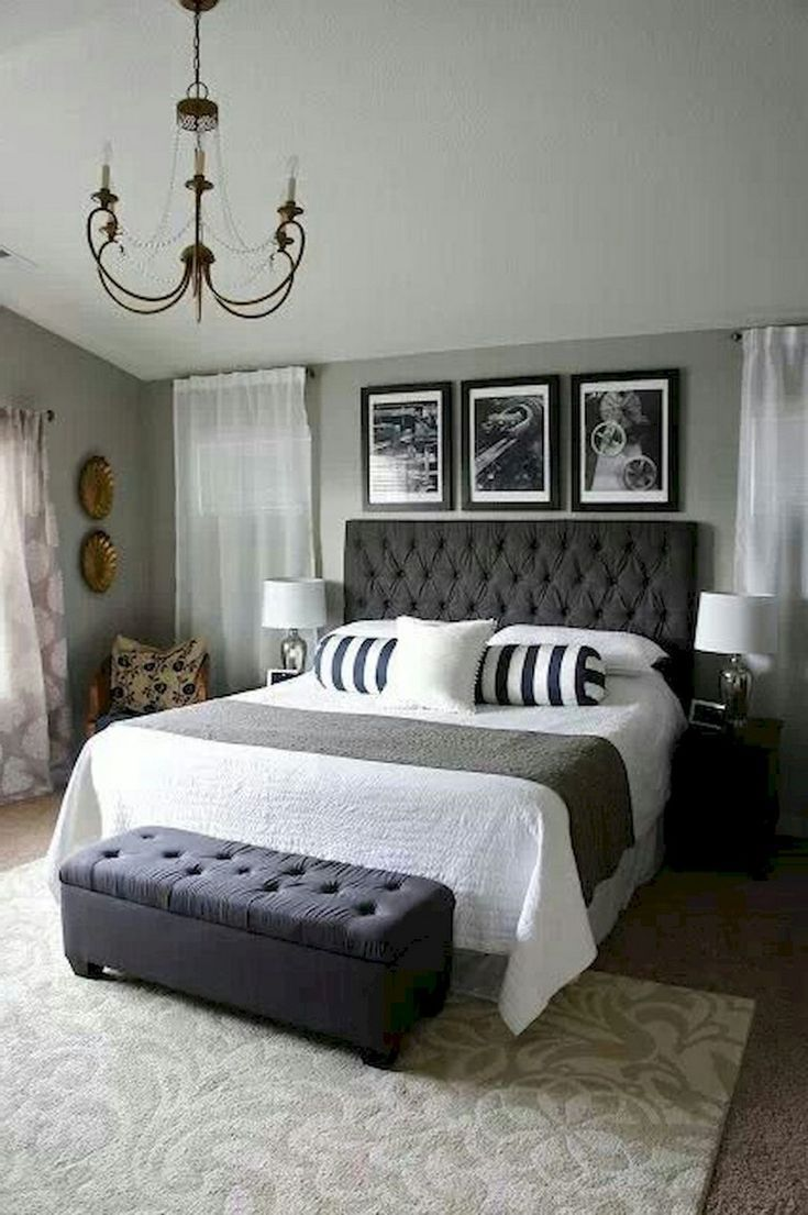 10+ Luxury Black and White Bedroom Style Ideas  Small master