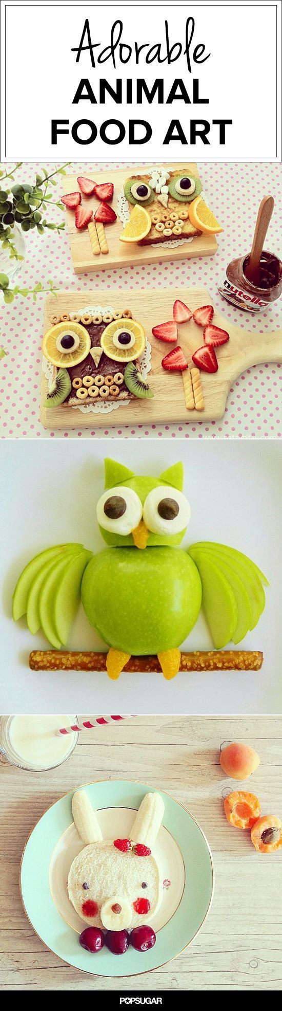 An Animal Snack Attack: 17 Works of Animal Food Art: More things that I will never make |  moms.popsugar.com