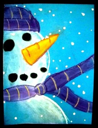 snowman lähikuvassa, millainen hattu?