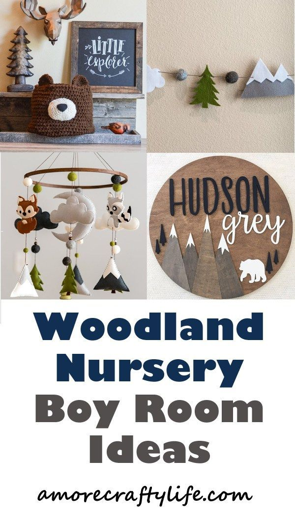 Woodland Nursery Idea – Young Nursery Theme – amorecraftlife …. – kinderzimmer
