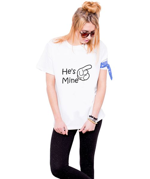 Koszulki dla Par - He's mine - She's mine w Allbag-Allprints na DaWanda.com