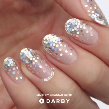 DIY Tutorial: How to Make your Nails Sparkle Like Diamonds #darbysmart #beautyti…
