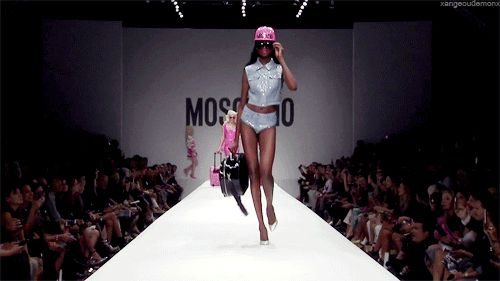 Image via We Heart It [animated] #catwalk #fashion #Moschino #runway #mariaborges