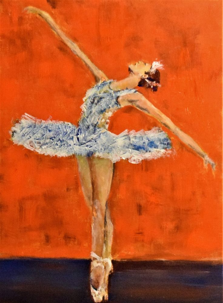 My favourite thing to paint, ballerina's.  I love to use thick paint & often, palette knife.  Acrylic on canvas