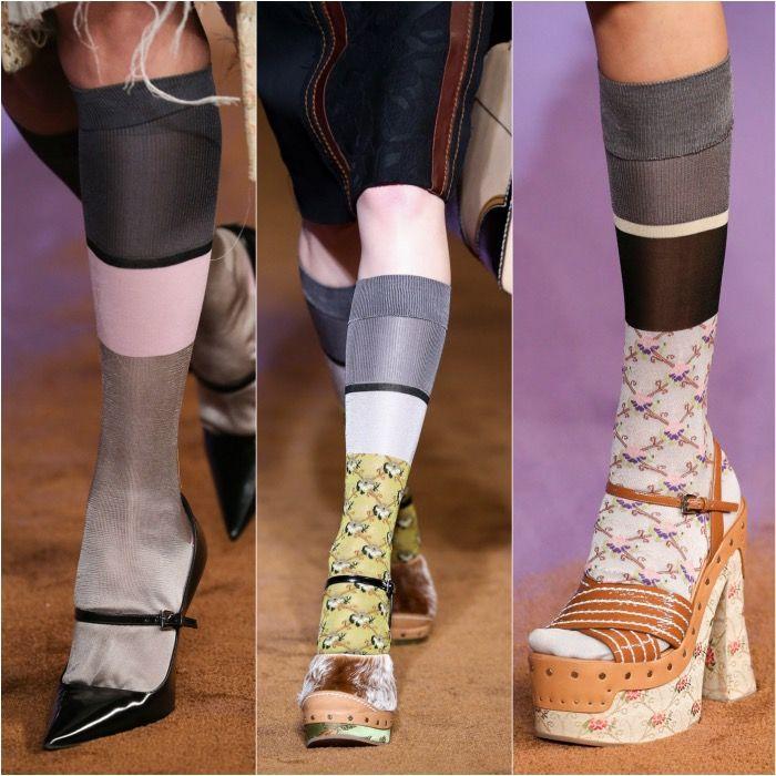 prada shoes women 80s socks and pumps