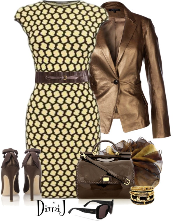 """Dress Collection"" by dimij ❤ liked on Polyvore. Love the jacket."